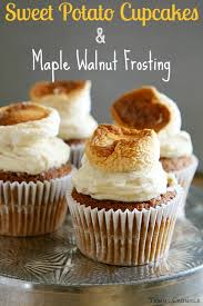 sweet potato cupcakes. Fine Potato Sweet Potato Cupcakes And Maple Walnut Frosting Throughout O