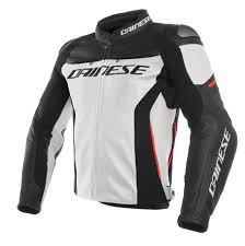 racing 3 leather jacket white black red