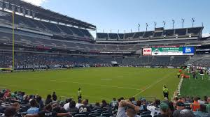 seat view for lincoln financial field section 132