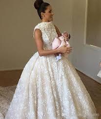 dubai ball gown 3d lace wedding dresses 2017 detachable train