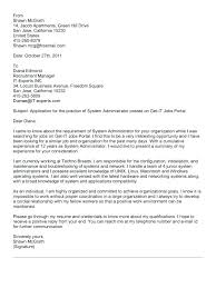 Network Administrator Cover Letter System Administrator Resume