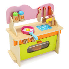 36 17 36cm colorful kitchen wooden wood pretend gas stove toy model set for