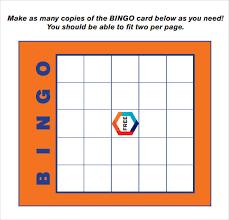 Blank Bingo Card Template Microsoft Word Thefreedl