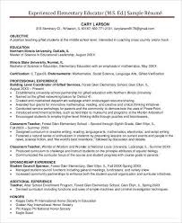Free Teacher Resume 40 Free Word PDF Documents Download Free Inspiration Teaching Resumes