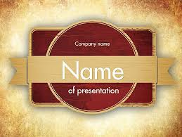Vintage Label Theme Powerpoint Template Backgrounds 11451