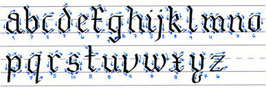 gothic script how to make lowercase letters