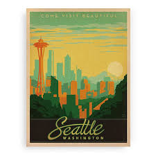 seattle wall art prints