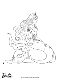 Detailed Mermaid Coloring Pages For Adults Barbie Queen Of ...
