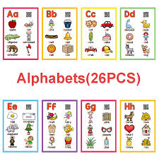 Us 7 94 25 Off A Z English Flashcards Abc 26 Letters Alphabet Word Pocket Cards Learning Educational Toys For Children Kids Games Montessori On