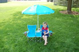 the sun smarties kids double folding chair and umbrella also come with a carry bag i was surprised at how easily both the umbrella and chair fit inside