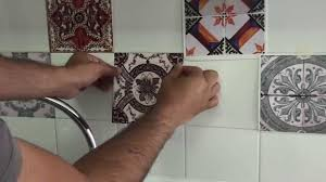 remodeling kitchen before and after with portuguese tile decals