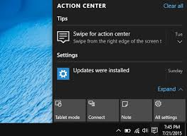 Image result for windows action center