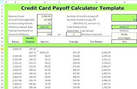 Multiple Credit Card Payoff Calculator Excel Debt Payoff Template