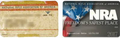 n r a membership cards left from 1970 a year before nicholas kristof received his own gun at the age of 12 right from 2017