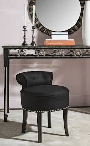 Vanity stools with back Bedroom Buy It Upholstered Black Vanity Stool With Back Interior Design Ideas 50 Beautiful Vanity Chairs Stools To Add Elegance To Your Dressing