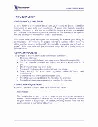 Resume Cover Letters New Unique Cover Letter Meaning Professional