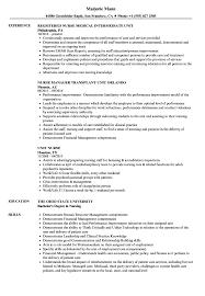 Unit Nurse Resume Samples Velvet Jobs