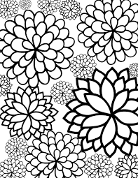 Coloring Book Pages Free Printable Bursting Blossoms Flower Coloring