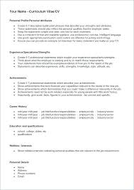 Sample Profile Statement For Resumes Sample Profile Statements For Resumes Resume Personal Profile