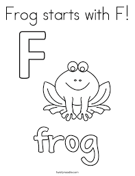 Small Picture Frog starts with F Coloring Page Twisty Noodle