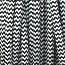three core lighting flex in black and white chevron black fabric lighting