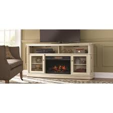 home decorators collection tolleson 68 in a console infrared bow front electric fireplace in antique