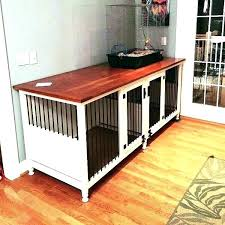 diy dog crate table top indoor dog crate furniture kennel with gorgeous cherry wood top double