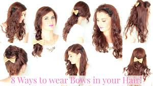 Bows In Hair Style 8 ways to wear hair bows youtube 7260 by wearticles.com