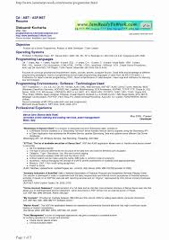 Net Developer Resume Sample Sample Resume for C Net Developer Fresh Pl Sql Developer Resume 55