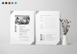 seminar invitation seminar invitation card design template in psd word publisher