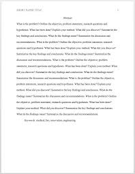 An essay format is a way in which the information is organized for your essay. Apa Format 6th Ed For Academic Papers And Essays Template