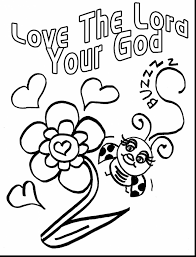 God Loves Me Coloring Page Coloring Pages