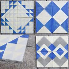 blue floor tiles.  Blue View In Gallery Blueandwhitefloortileideabyreclaimed With Blue Floor Tiles