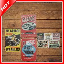 Small Picture Aliexpresscom Buy IDEA 2030cm Garage Vintage Metal Signs