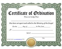 Formal, school, graduation, sports, award choose a category below and then click on any template preview to get started. Ministry Of The Gospel Templates Free Printable Certificate Of Ordination