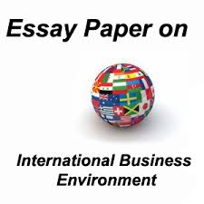 essay paper on international business environment