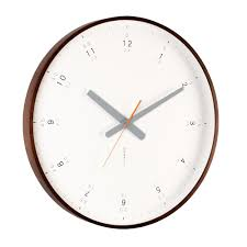 buy modern walnut wall clock online  purely wall clocks