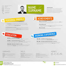 Free Colorful Resume Templates Cv Resume Template Stock Illustration Image 100 For Free 8