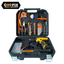 COOFIX Portable Hand Tool Set Household Repair Multifunction Tool Kit 12V  Electric Cordless drill Knife Power Tool Set|Hand Tool Sets| - AliExpress