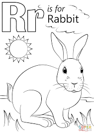 Small Picture Letter R Is For Rabbit Coloring Page New Coloring Pages glumme