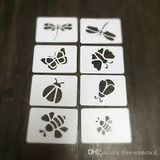painting stencils kit of insecterfly dragonfly bees ladybmasking template for sbooking cardmaking painting diy cards 319 rubber stamp making design