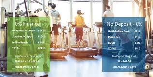 0 finance for gym equipment
