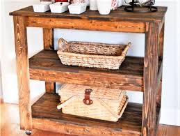 10 DIY Wood Bar Carts