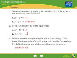 solve each equation by finding square roots a m2 25