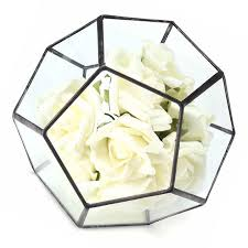 irregular glass geometric terrarium box flower pot diy tabletop succulent plant planter cod
