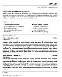 Before Version of Resume, Sample Office Manager Resume