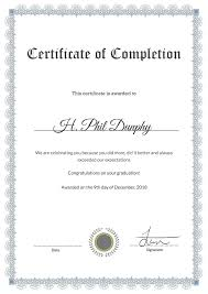Certificate Of Completion Template Elegant Cool Certificate
