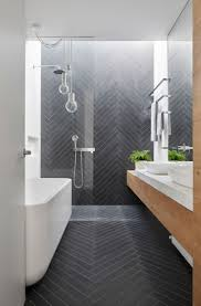 Mark St Fitzroy North Heritage Renovation Melbourne - Dimpat builders - I  love everything about this modern bathroom from the herringbone tiles, ...