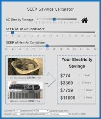 Lennox Seer Rating Chart Seer Savings Calculator Is High Seer Really Worth The Money