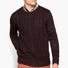 <b>Пуловер</b> с <b>круглым</b> вырезом и рисунком косы <b>La Redoute</b> ...